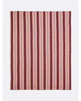Pinstripe Blanket - Rose