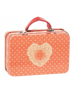 METAL SUITCASE ORANGE SMALL DOTS
