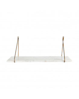 Shelf Marble White marble 24x70 cm
