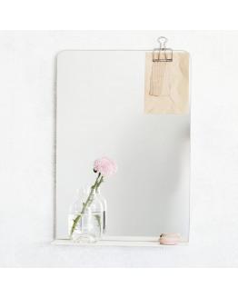 Mirror, Room, White, 50x35x10 cm
