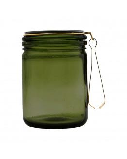 Ice bucket w. brass tong 11x16cm