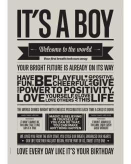 IT'S A BOY Warm Grey A5