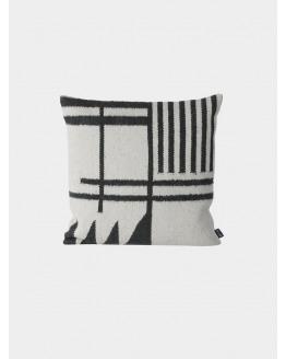 Kelim Cushion 50x50 - Black Lines