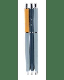 Pen w. black ink ass. 3 pcs/pack