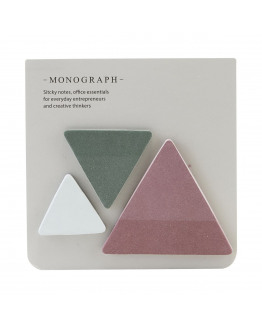 Sticky notes Triangle Assorted 3 colours