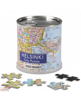 Helsinki city puzzle magnets