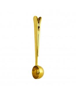 Spoon w/clip Gold 17,5cm