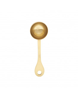 Coffee Spoon 9cm Stainless steel w. gold finish