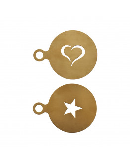 Coffee stencil Set of 2 designs