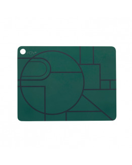 PLACEMAT PONYO DARK GREEN 2PCS. 1100922