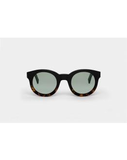 SHIRO Black/Havana Light Solid Green MN-A5