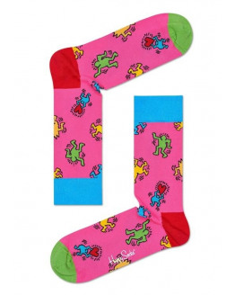 Keith Haring Dancing Sock