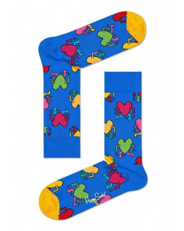 Keith Haring Running Heart Sock