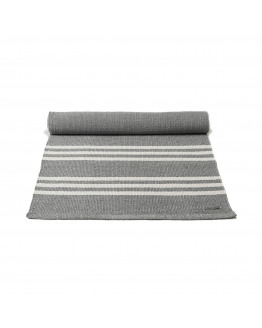 Plastic rug Grey/Offwhite Striped 60x90cm