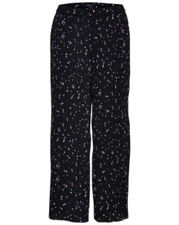 SLFPIPER MW AOP PLISSE WIDE ANKLE PANT