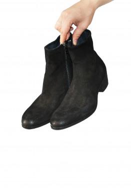 worn suede boots