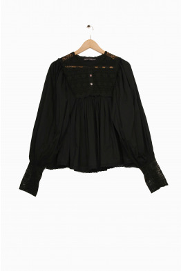 antik batik black AGATA blouse