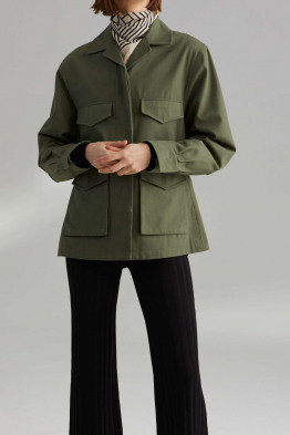 structured army jacket