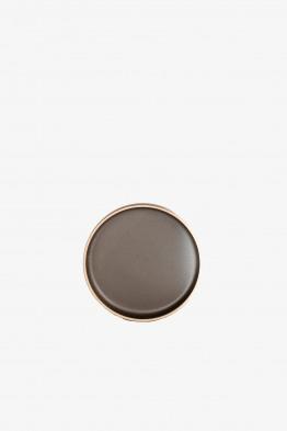 hasami black plate small