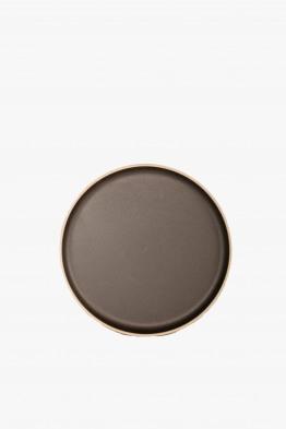 hasami black plate large