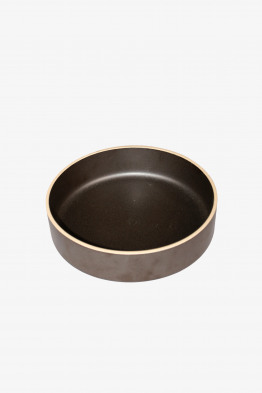 hasami black bowl large