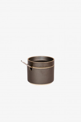hasami black sugar pot