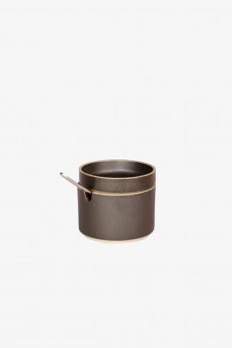 hasami black sugar pot