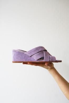 No.6 orlando woven wedge lilac