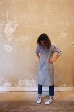fog linen work apron