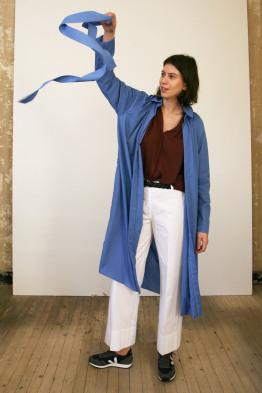 catherine hammel prardessuss plissé dress