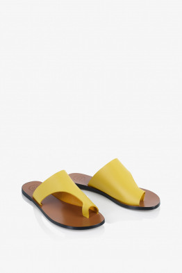 canary yellow sandals