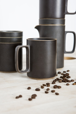 hasami black mug large