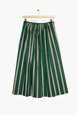 aspesi pleated skirt