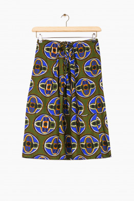 aspesi retro printed skirt