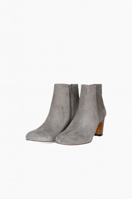 anthology paris suede wedge booties
