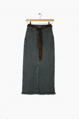 nanushka denim dungaree skirt