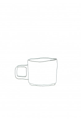 hasami natural mug cup small