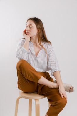 Striped boxy shirt