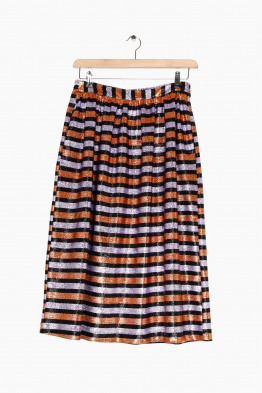 momoni striped skirt