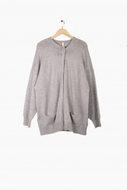 extreme cashmere open cardigan