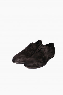 pantanetti perforated suede shoe