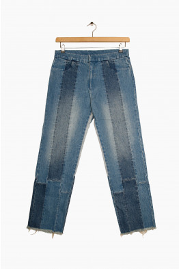 stand alone panelled jeans