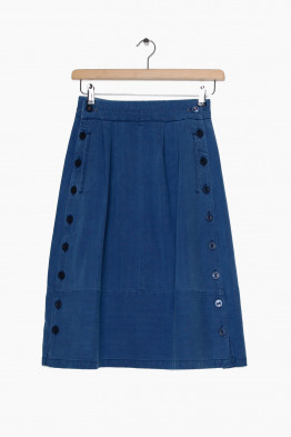 sideline denim skirt