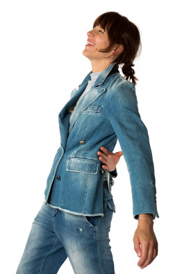 bleached jeans jacket
