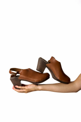 shoes with wooden sole