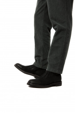 black suède boots