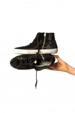 black suede sneaker