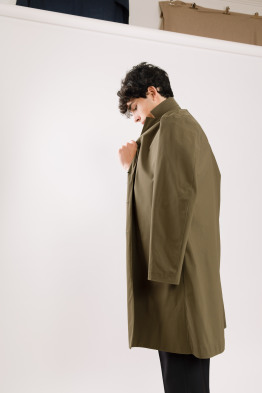 military green overcoat