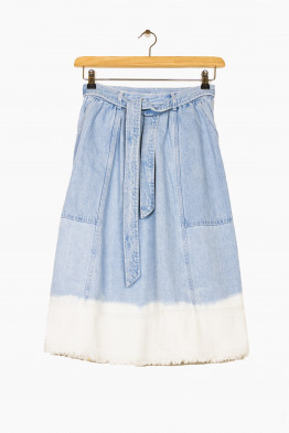 ulla johnson dip-dye celeste skirt