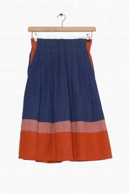 sideline color block skirt